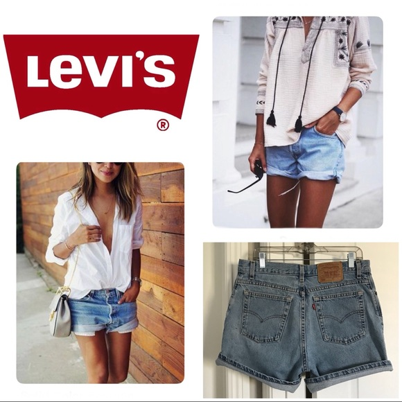 040a17fa33 Levi's Shorts | Vintage Levis 555 Guys Fit Size 12 | Poshmark